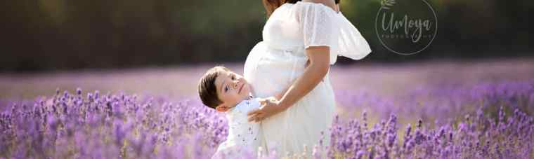 Maternity shoot lavender fields Surrey