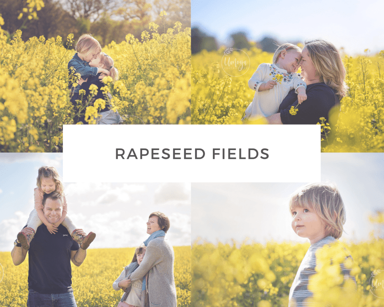 Family Photos in Rapeseed, Sussex