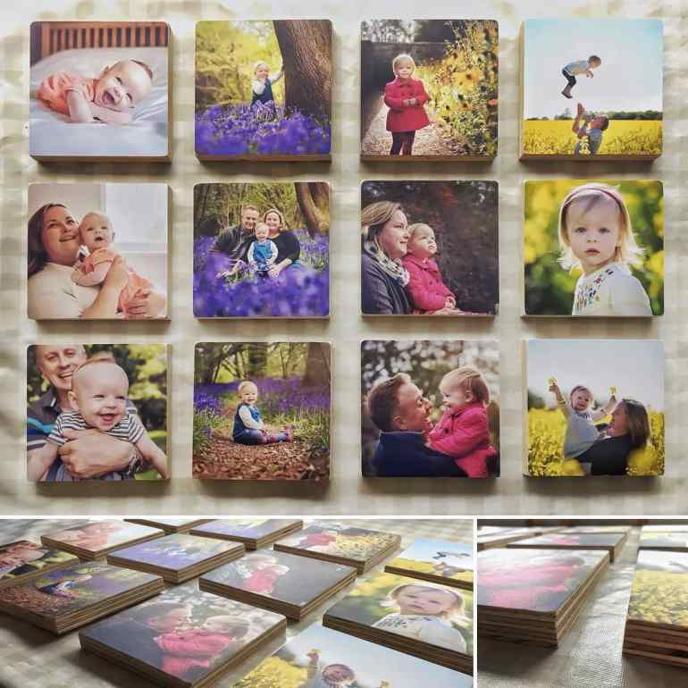 Wooden Photo Blocks - how to display your photos creating the biggest impact