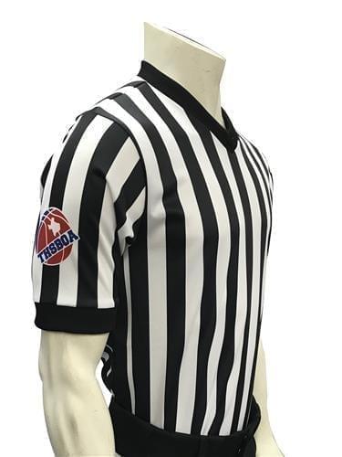 THSBOA Men's V-Neck Basketball Shirt with Black Side Panel