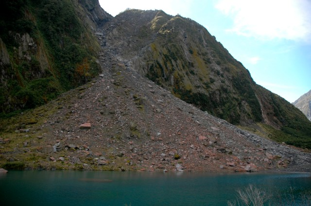 Morainas no Fox Glacier