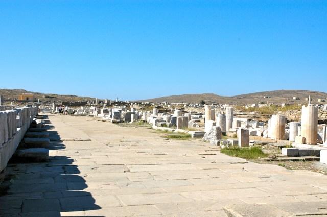 As ruinas de Delos mostram o passado de uma cidade vibrante