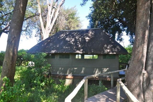 A barraca do Acampamento Duma Tau