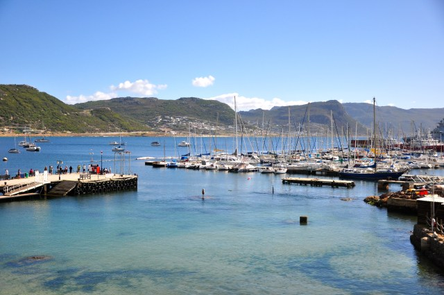 O porto de Simon's Town.