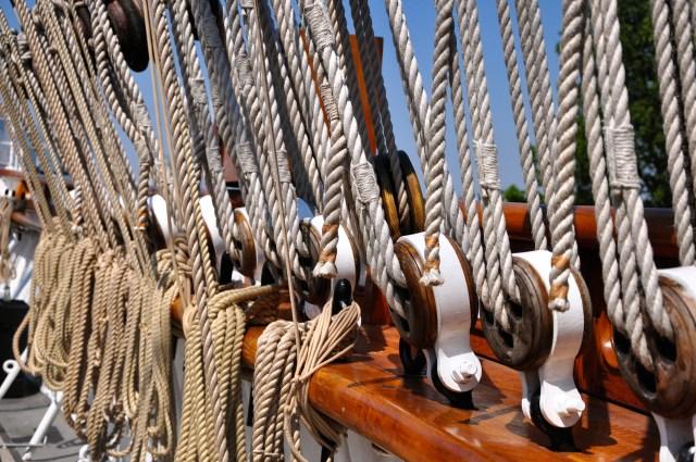Detalhes das amarras do Cutty Sark