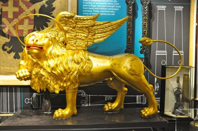 Leão de São Marcos no museu da Torre de Londres