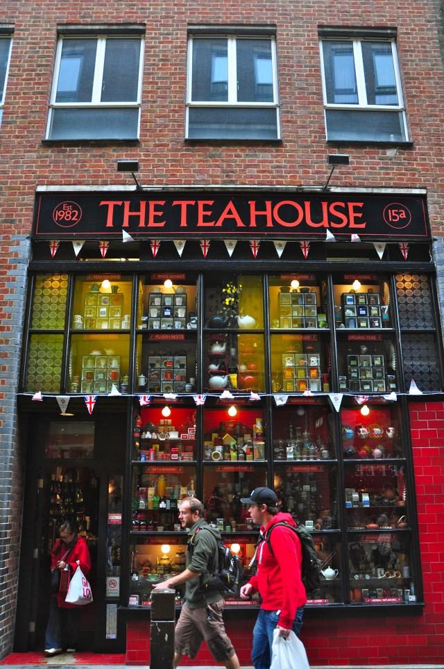 Casa de chá no Covent Gardens