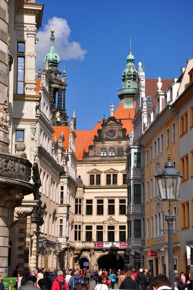 O Centro histórico de Dresden, já restaurado.