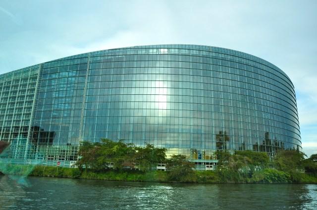 Sede do Parlamento Europeu de Estrasburgo.