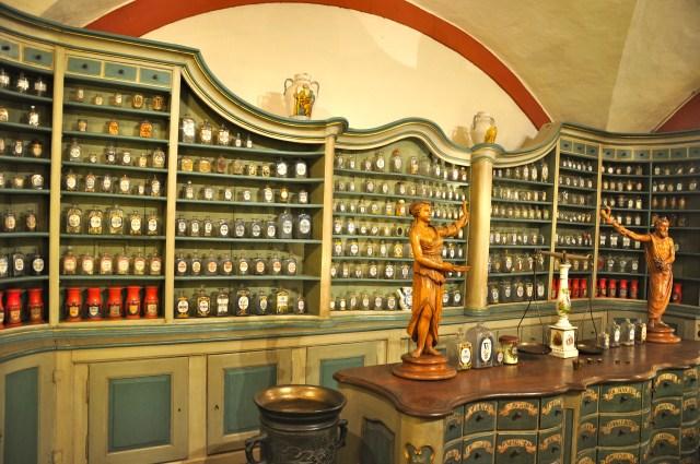 O Museu da Farmácia no Castelo de Heidelberg.