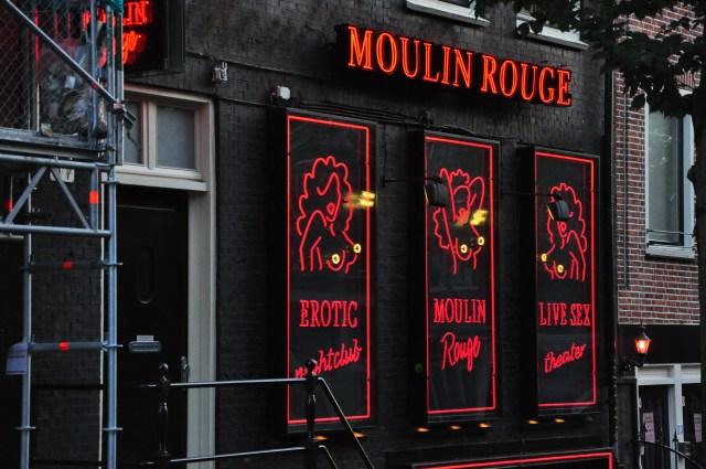 Casa de erotismo na Red Light District.