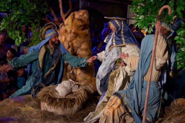O nascimento de Jesus.