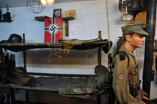 Detalhe do Museu do Bunker Alemão.