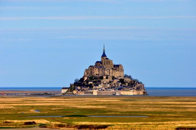 A última foto do Monte Saint-Michel.