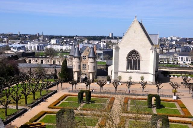 Pátio interno do Castelo de Angers