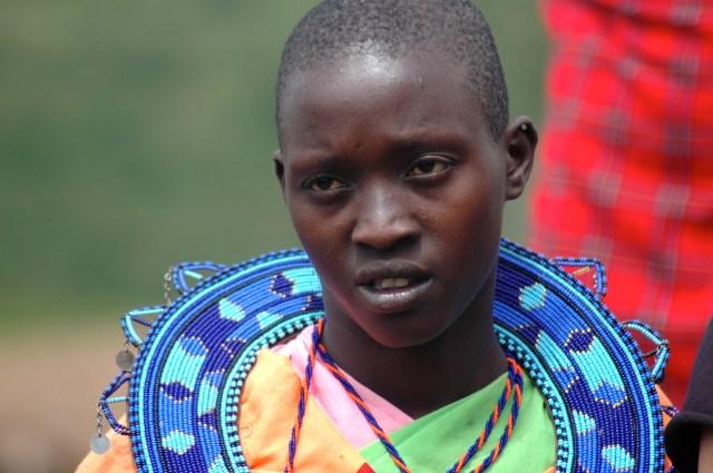 Uma mulher Masai.