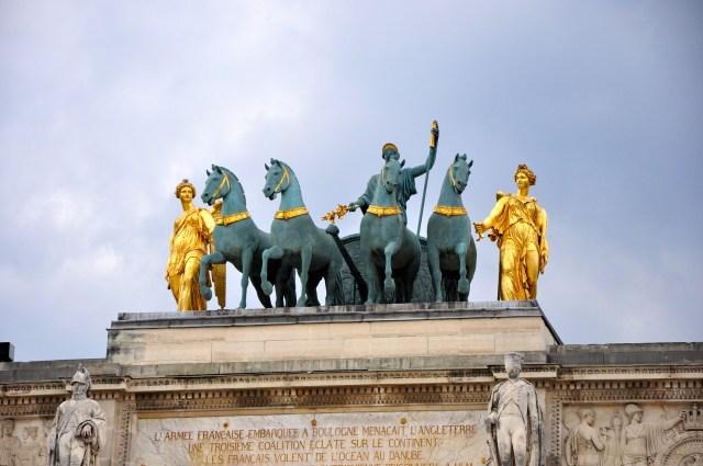 A Quadriga com a cópia dos Cavalos de Bronze de Constantino