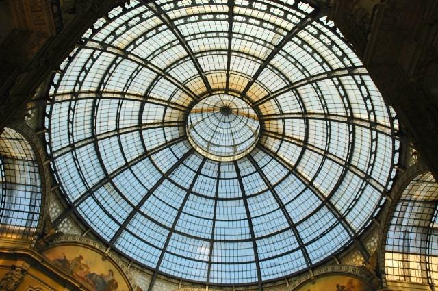 A cúpula de vidro da Galleria Vittorio Emanuele II