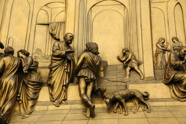 Detalhe da Porta do Paraíso.
