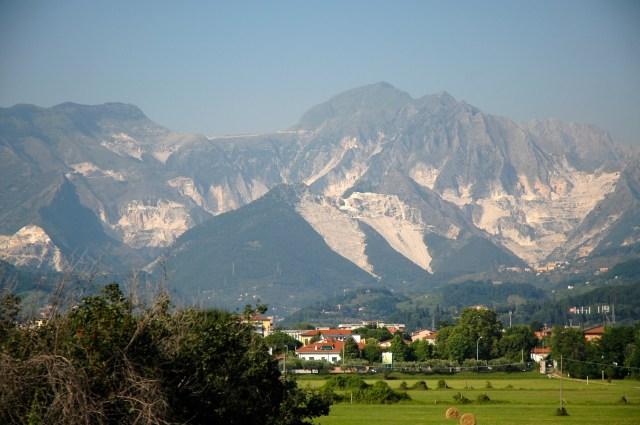 As montanhas de Carrara.