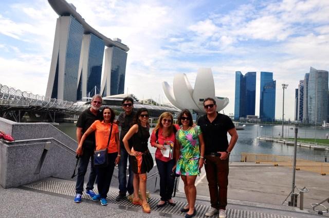 Chegando em Singapura