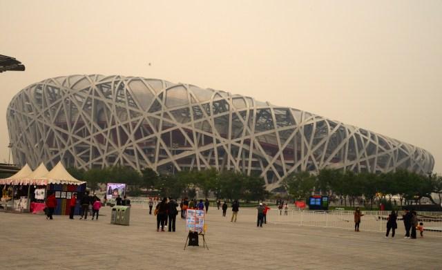 O Estádio Olímpico de Pequim.
