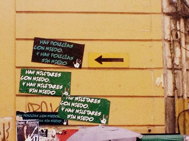 Cartazes de protesto