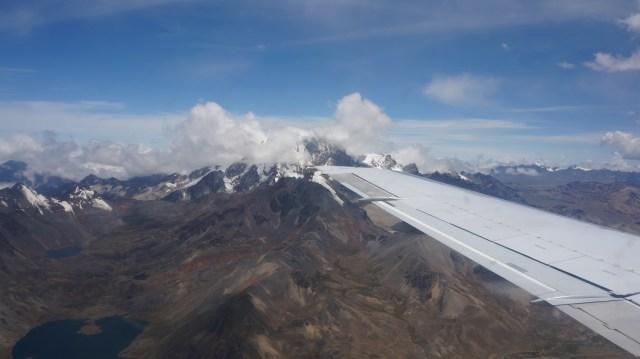 Voando para La Paz