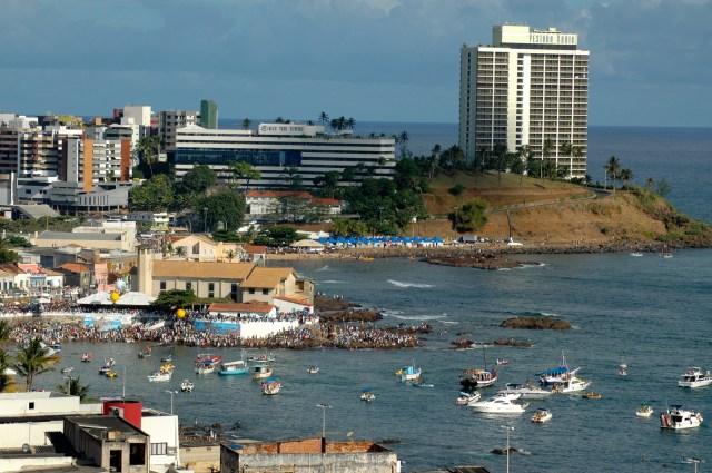 A procissão marítima sai da Praia do Rio Vermelho.