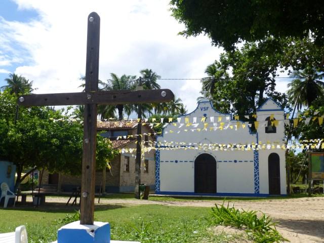 A igrejinha de São Francisco em Garapuá.
