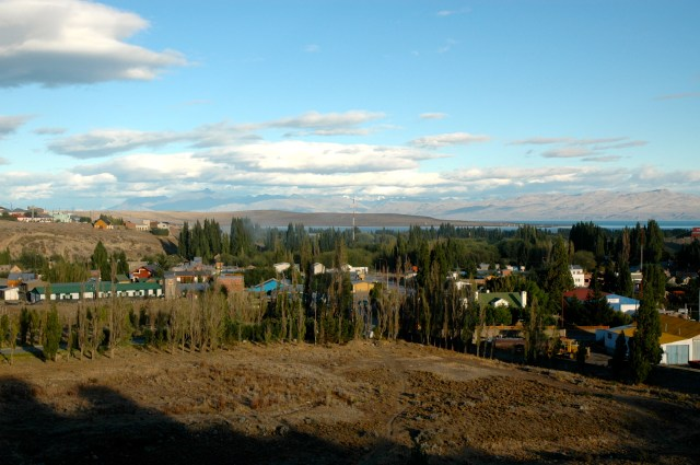 A pequena vila de El Calafate.