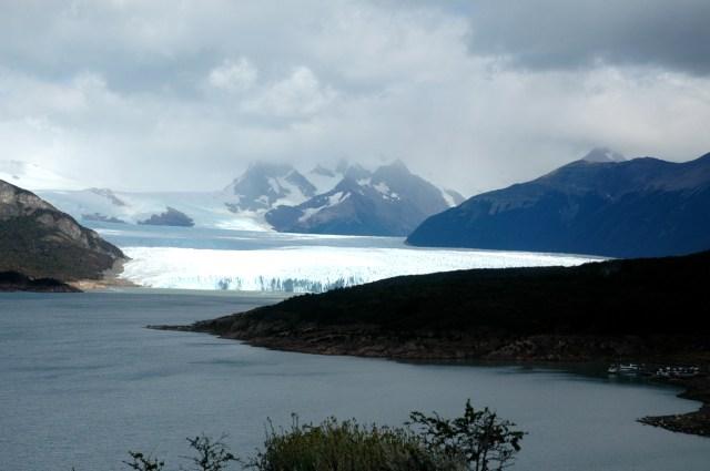 A vista espetacular do Perito Moreno.