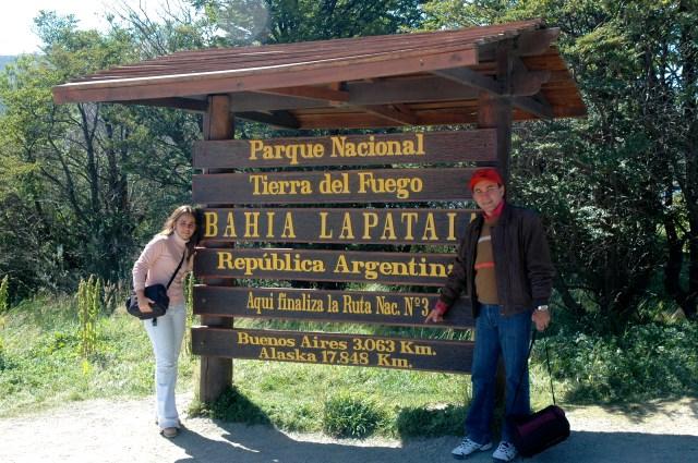 O Parque Nacional da Terra do Fogo.