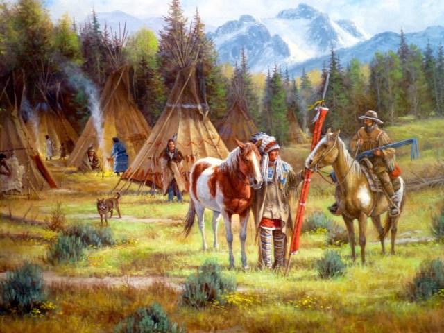 Muitas das obras de arte têm inspiração no Velho Oeste.