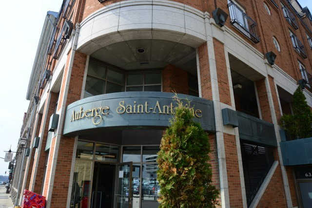Fachada do Auberge Saint-Antoine.