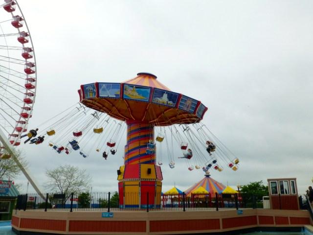 O parque de diversões do Navy Pier