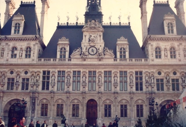 Fachada do Hotel de Ville de Paris.