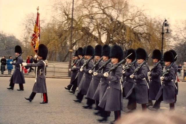 A Troca da Guarda no palácio de Buckingham