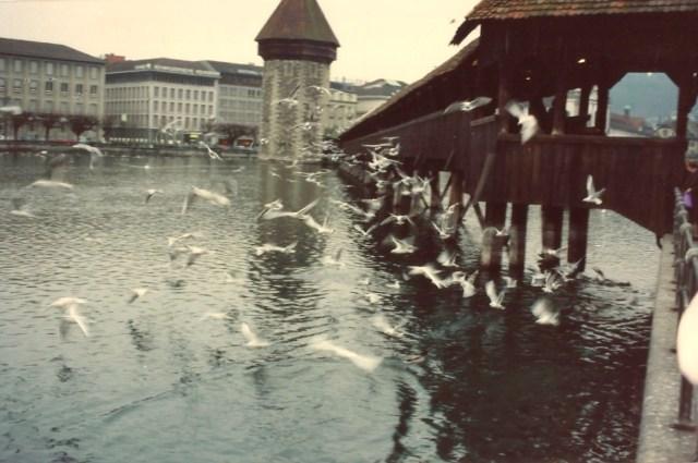 A ponte de madeira medieval de Lucerna