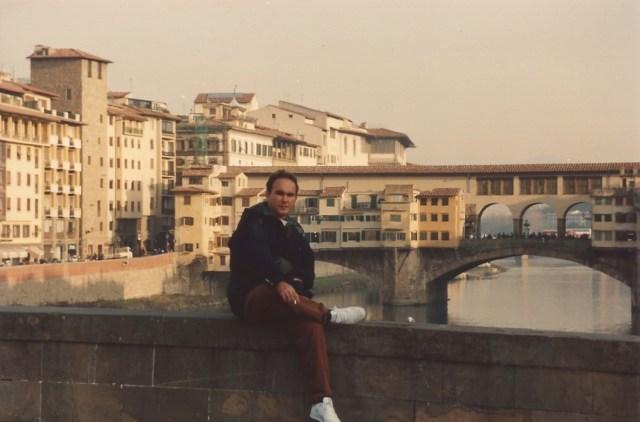 A Ponte Vechio sobre o Rio Arno.