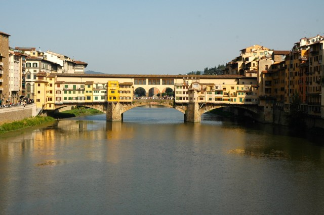 Detalhes da Ponte Vechio de Florença.