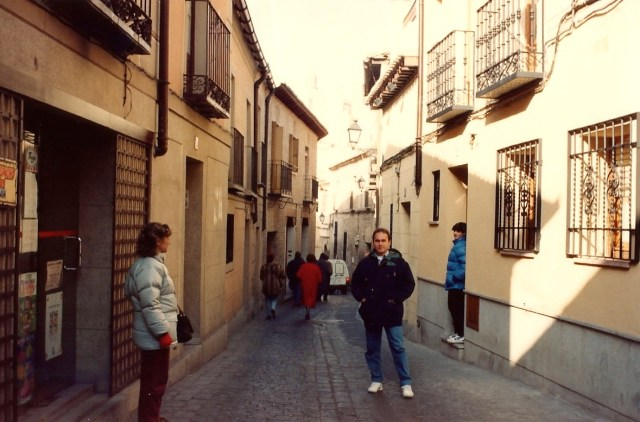 As ruas estreitas de Toledo.
