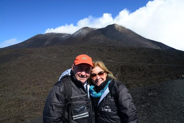 As crateras principais do Etna.