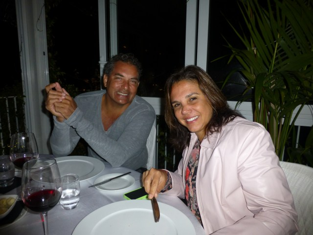 Dr. Alberto e Dra. Kika no Restaurante La Bocca