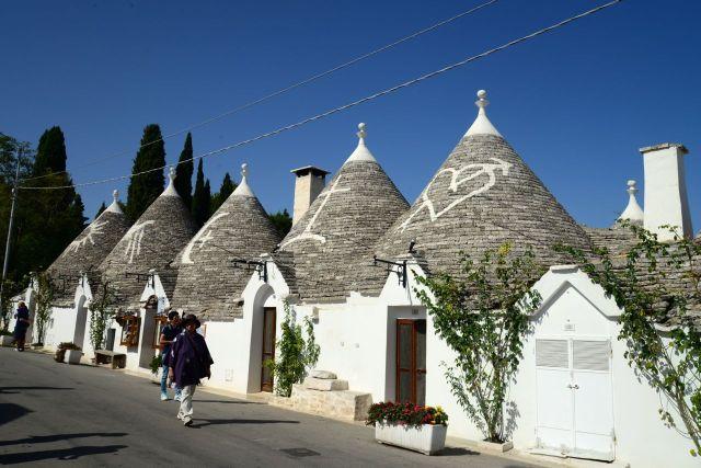 As casas Trulli de Alberobello.