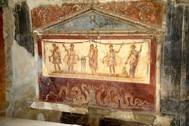 Afrescos muito bem preservados em Pompéia