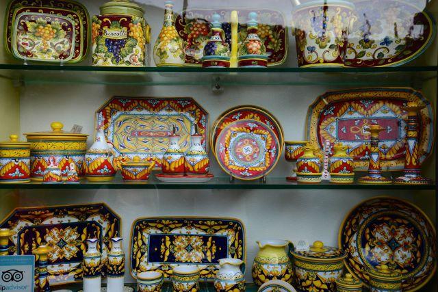 Produtos artesanais da Costa Amalfitana.