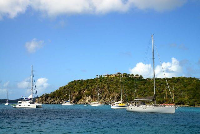 Chegando à Ilha Virgin Gorda.