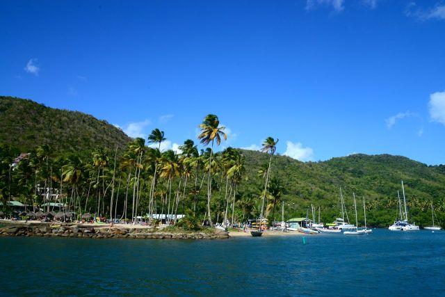 Detalhes da Baía Marigot.