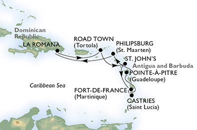 Esse foi o roteiro que a Via Alegria preparou para nós no Caribe